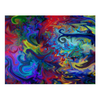 Colorful Abstract Art Postcard