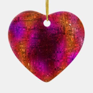 Colorful Abstract Art, Purple Orange Pink Ceramic Ornament