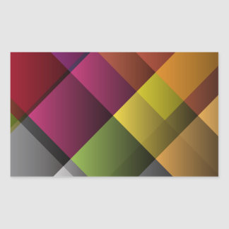 Colorful Abstract Art Rectangular Sticker