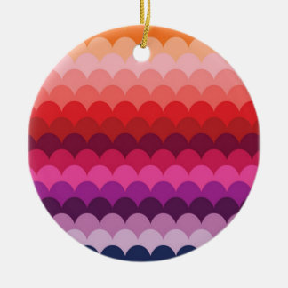 Colorful Abstract Art Red Pink Yellow Rainbow Ceramic Ornament