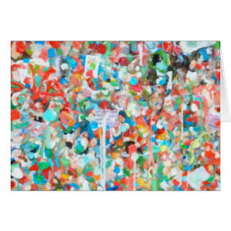 Colorful Abstract Art- Seattle's Gum Wall Notecard Greeting Card