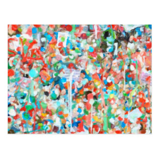 Colorful Abstract Art- Seattle's Gum Wall Postcard