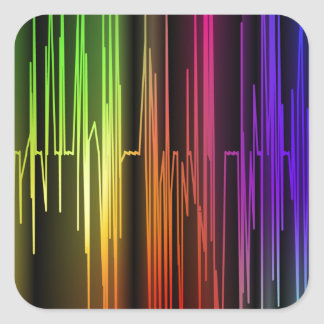 Colorful Abstract Art Square Sticker