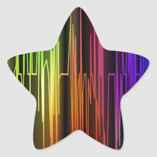 Colorful Abstract Art Star Sticker