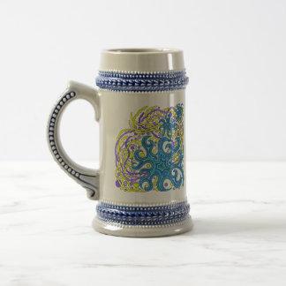 Colorful Abstract Art Starfish Beer Stein Mug