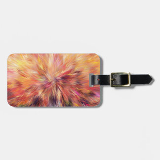 Colorful Abstract Art Structured Lines Luggage Tag
