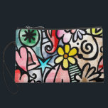 "Colorful Abstract Art Sueded Mini Clutch<br><div class=""desc"">Unique looking clutch.</div>"
