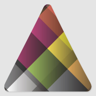 Colorful Abstract Art Triangle Sticker