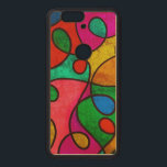 """Colorful abstract art wood nexus 6P case<br><div class=""""desc"""">Colorful abstract art.</div>"""
