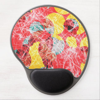 Colorful abstract artwork gel mouse pad