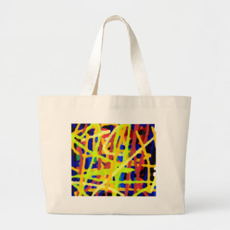 Colorful Abstract Artwork Large Tote Bag