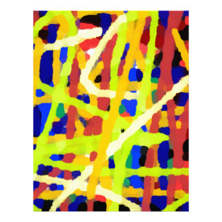 Colorful Abstract Artwork Letterhead