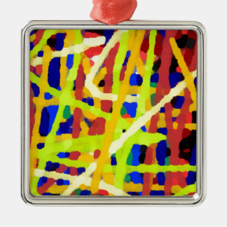Colorful Abstract Artwork Metal Ornament