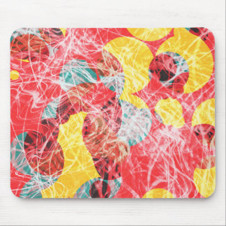 Colorful abstract artwork mouse pad