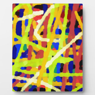 Colorful Abstract Artwork Plaque
