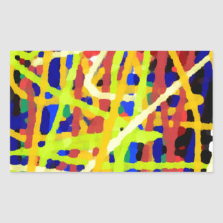 Colorful Abstract Artwork Rectangular Sticker