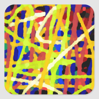 Colorful Abstract Artwork Square Sticker