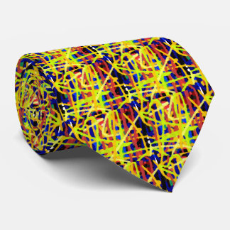 Colorful Abstract Artwork Tie