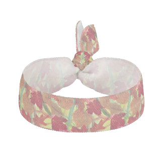 Colorful Abstract Autumn Leaves Hair Ties