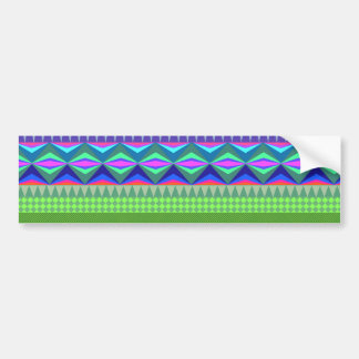 Colorful Abstract Aztec Pattern Bumper Sticker