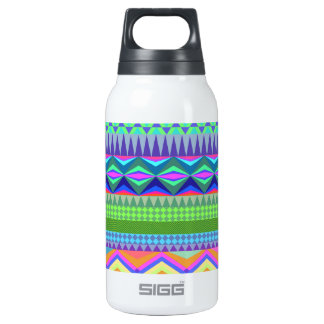Colorful Abstract Aztec Pattern Insulated Water Bottle