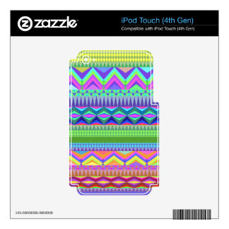 Colorful Abstract Aztec Pattern iPod Touch 4G Decal