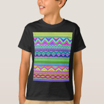Colorful Abstract Aztec Pattern T-Shirt