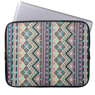 Colorful Abstract Aztec Tribal Pattern Laptop Computer Sleeve