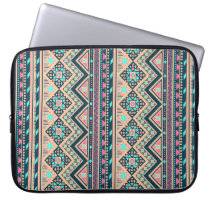 Colorful Abstract Aztec Tribal Pattern Laptop Sleeve