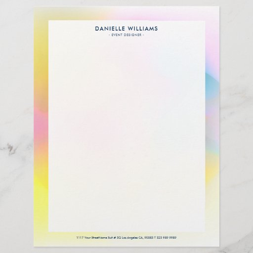 Colorful abstract background letterhead