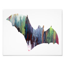 Colorful abstract Bat silhouette Photo Print