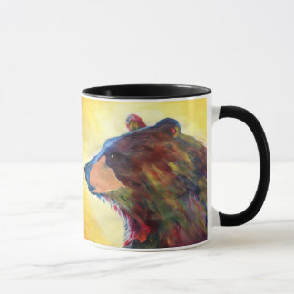 Colorful Abstract Bear Art Mug