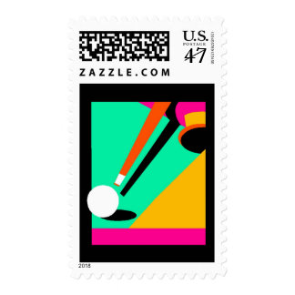COLORFUL & ABSTRACT BILLIARDS ~ POSTAGE STAMP