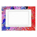 Colorful Abstract Border Personalized Invites