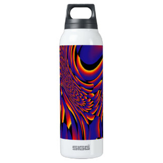 Colorful abstract bottle 16 oz insulated SIGG thermos water bottle