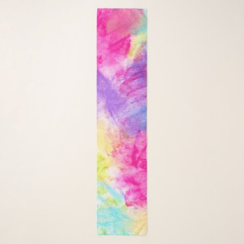 Colorful Abstract Bright Modern Blue Pink Trendy Scarf