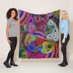 Abstract Neon Blankets Throw Fleece Sherpa Blankets Zazzle