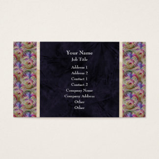 Colorful Abstract Bubble Pattern Border Business Card