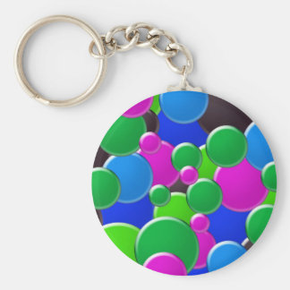 Colorful abstract bubbles design key chains
