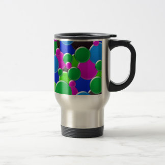 Colorful abstract bubbles design mugs