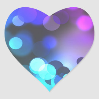 Colorful Abstract Bubbles Heart Sticker