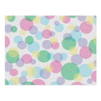 Colorful abstract bubbles pattern postcard