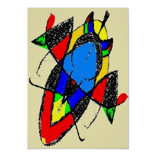 Colorful Abstract Bug Poster