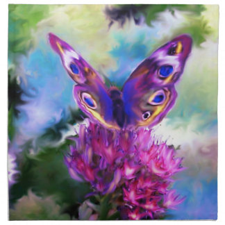Colorful Abstract Butterfly Napkin