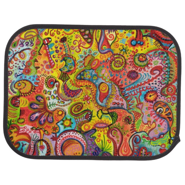Colorful Abstract Car Mats Full Set Of 4 Mats Zazzle