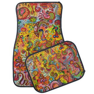 Colorful Abstract Car Mats - Full Set of 4 Mats Floor Mat
