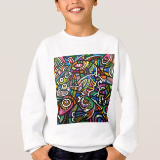 "Colorful Abstract Cascardo ""Coral Reef"" Design Sweatshirt"