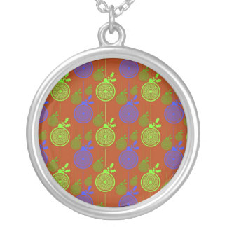 Colorful Abstract Christas, Holiday Trees, Ornamen Necklaces