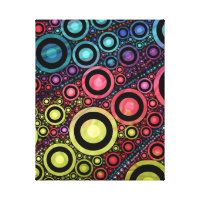 Colorful Abstract Circle Art Canvas Print