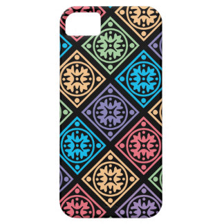 Colorful abstract circles and squares phone cover